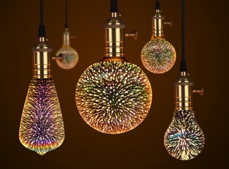 Fireworks Effect LED Night Light Bulb